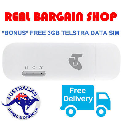 *new* Telstra 4G 4Gx Usb Wifi Plus Wireless Broadband + 3Gb Free Data Au Stock