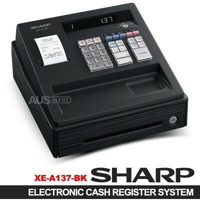 SHARP XE-A137 Black Electronic Thermal Printer Cash Register Supercede XE-A147