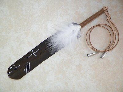 """Native American Eagle Feather Hair Tie 11""""  Pow wow Regalia Smudging The Journey"""