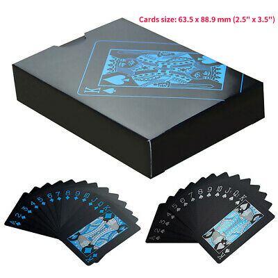55Pcs/Pack Black Plastic PVC Poker Waterproof Magic Playing Cards Table Game