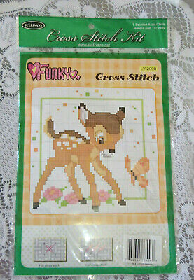 new unopened Sullivans cross stitch kit faun and butterfly