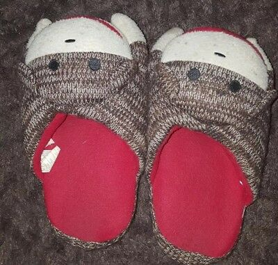Monkey Slippers Unisex Size Small Women's Sizes 5-7