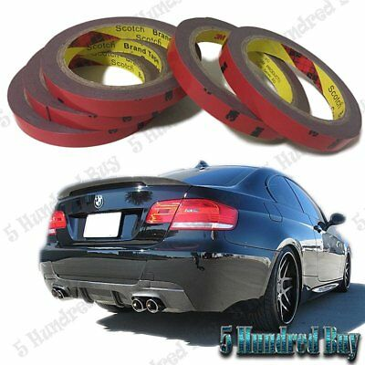 3M Double Side Adhesive Tape 5 Rolls For Auto Parts Install DIY Car Accessories