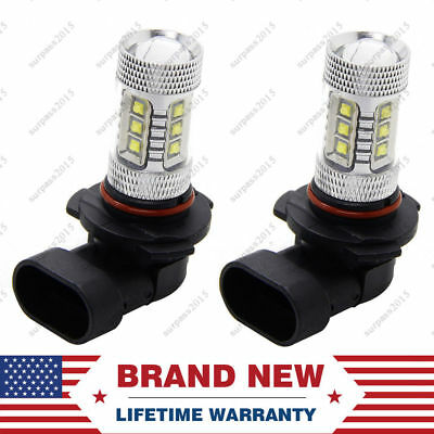 Fits Can-Am 80W LED Super White Headlight Bulbs Lamps CREE LED 2 Pack