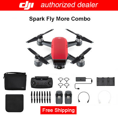 Genuine DJI Spark Fly More Combo Lava Red Quadcopter RC Drone, AU Stock!
