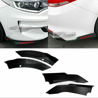 Canard Front//Rear Cup wing Body Kit Matte Black for CHEVROLET 17-18 Malibu 1.5L