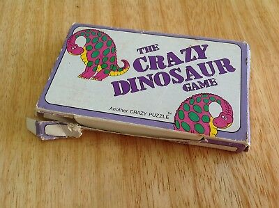 The Crazy Dinosaur Game - Price Stern Sloan Vintage 1980s Puzzle Game