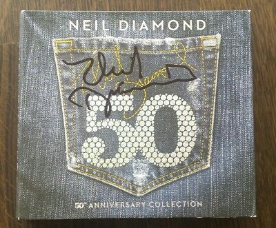 Neil Diamond CD 50th Collection 2017 signiert Autograph RAR SELTEN IN PERSON
