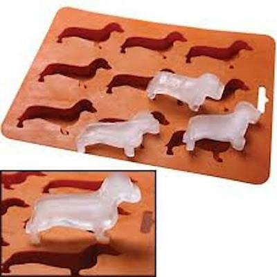 Dachshund Sausage Dog Weiner Teckel Novelty Ice Cube Tray Chocolate Mould BN