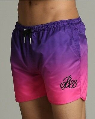 Bee Inspired Lloyd fade racer swim short (large) purple & pink