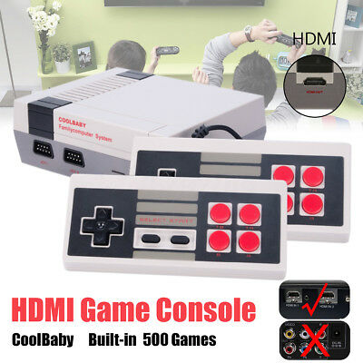Built-in 600 Classic Games Player Console with 2 Controller US EU Plug HDMI Out