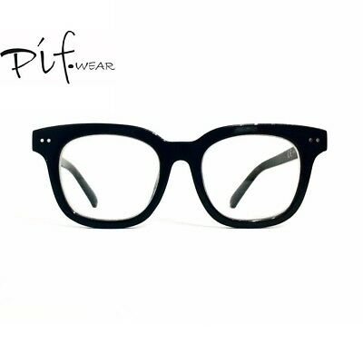 Occhiali da bellezza nero acetato lenti neutre Pif wear Monster n. 6 - 130/6