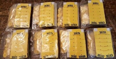 (200) Qty of Numbered Plastic Livestock Ear Tags Animal Tags for Goat Sheep Pig