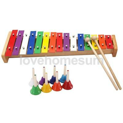 Durable Colorful Hand Shake Bells with Xylophone Set Musical Toys Gift