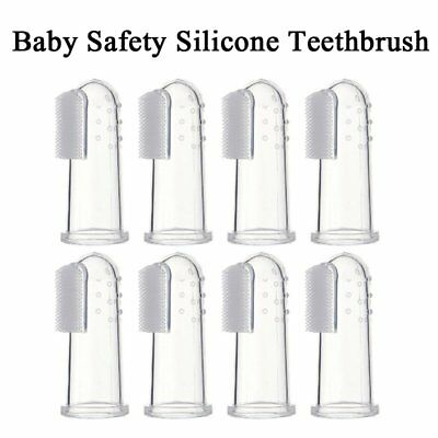 8pcs Baby Finer soft Silicone Toothbrush Teeth Gum Massager Infant  Teether UK