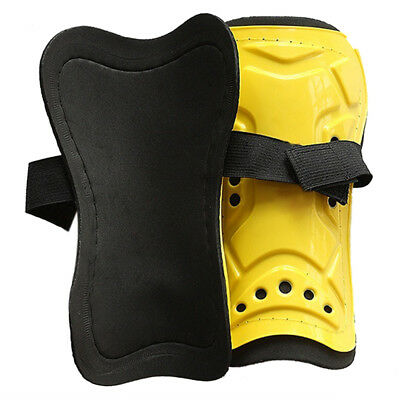 PF Yellow Durable New 1 Pair Competition Pro Soccer Shin Guard Pads Shinguard Pr