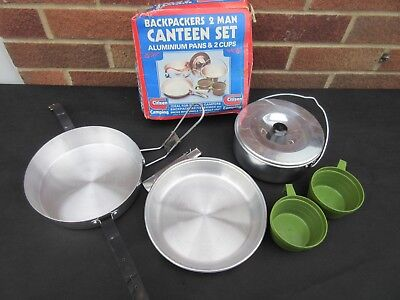 Citizen 2 Man Nesting Camping Gilwell Canteen Scout Mess Tins Cook Set Unused ?