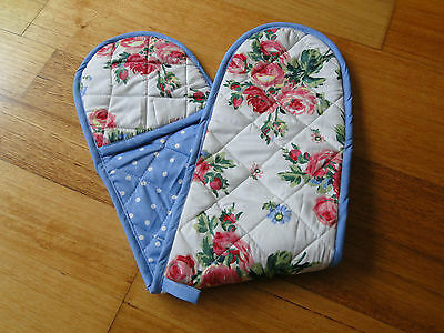 Floral Print Double Oven Mitt