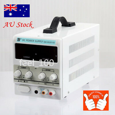 DC Power Supply 30V 10A Precision Variable Digital Lab Adjustable with Cable AU