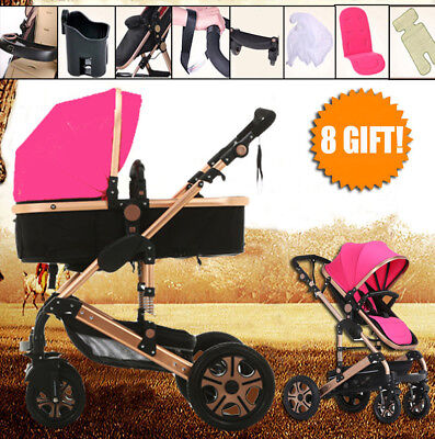 2017 Portable Pram travel system 8 in1 Baby stroller buggy Kids jogger pushchair