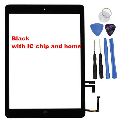 For iPad Air 1 A1474 A1475 A1476 Touch Screen Digitizer Front Lens Replacement