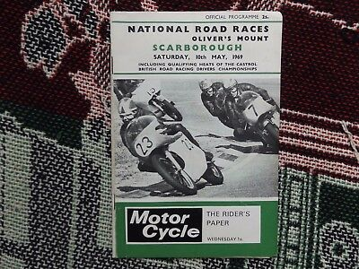 1969 Olivers Mount Programme 10/5/69 - National Road Races
