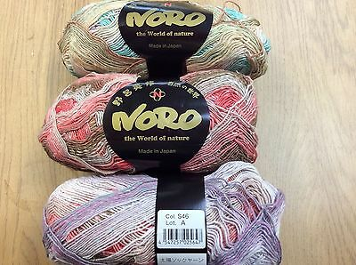 NORO Taiyo Sock Yarn (Cotton,Wool,Silk,Nylon)Col S46  Lot A (100grms x 420m )