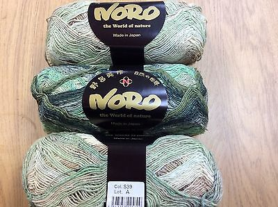 NORO Taiyo Sock Yarn (Cotton,Wool,Silk,Nylon) Col S39  Lot A (100grms x 420m )