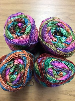 NORO SILK GARDEN SOCK YARN  (  SHADE S258 Lot D )100g BALLS ( 300metres )