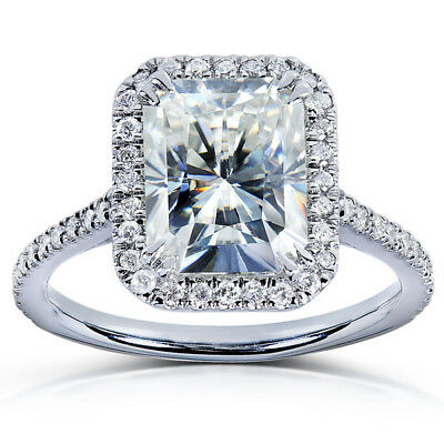 Fiery 3 Carat Lovely Off White Moissanite Engagement Ring 925 Sterling Silver 1