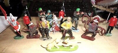 A Mixture Of Very Old Lone Star & Vintage  Britains Figures