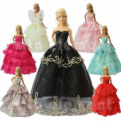 5 Handmade Fashion Party Dress Outfit Barbie Clothes Girls Gift Doll Accessories