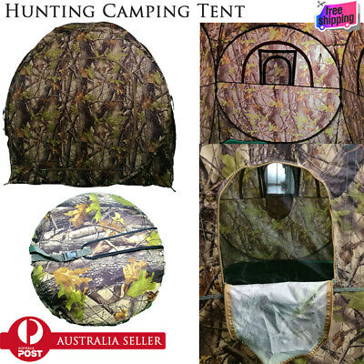 Portable Pop-up Camo Tent Hunting Blind Shooting Jungle Photography Leaf Camo