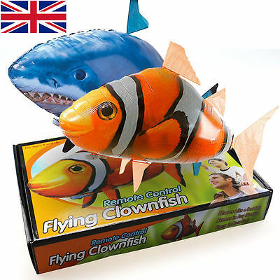 Remote Control RC Inflatable Balloon Air Swimmer Fly Nemo Shark Blimp UK SELLER