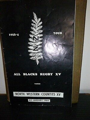 North West Counties v New Zealand Rugby Programme 1964