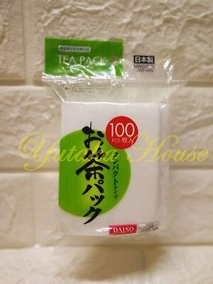 DAISO Tea Pack Compact Type 100 bags Leaf Filter JAPAN F//S