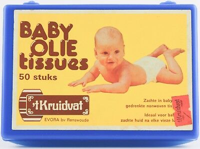 Baby Oil Tissues (Empty) Box Kruidvat - Cool Vintage Box