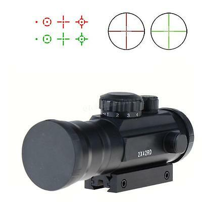 Cheap 2x42 Green & Red Dot Reflexible Rifle Scope 2 Times Magnification Sight