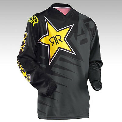 Black/Gray Answer Rockstar Motocross Jersey