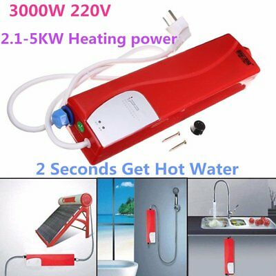 3000W Electric Tankless Heater Bathroom Kitchen Hotel Instant Hot Water Heater@D