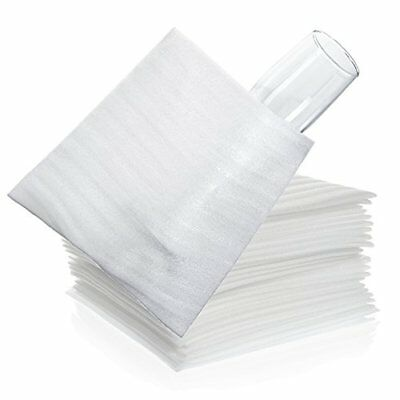 """Foam Wrap Cup Pouches 7 3/8"""" x 7 1/2"""" 50 Count Cushion Pouches to Protect Dishes"""