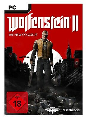 Wolfenstein II 2 The New Colossus PC Steam Key Download Code Digitale Lieferung