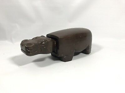 Vintage Wooden Hippo Shoe Brush ( Year Unknown)