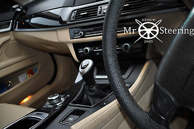Fits Nissan Dualis 2006-12 Perforated Leather Steering Wheel Cover Double Stitch