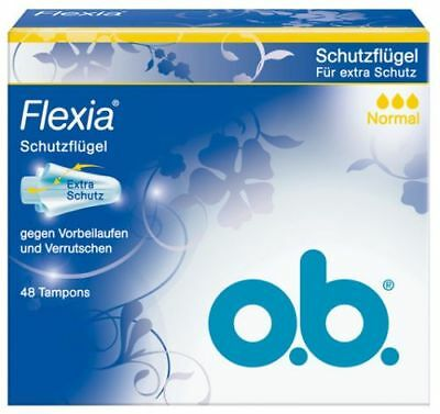 o.b. Flexia Normal Tampons, mit Soft Folds Flügeln - 48 St.