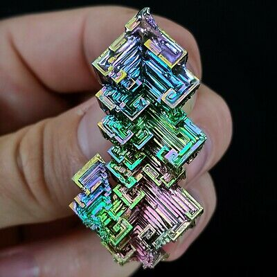 GEMCORE: One(1) Jewelry-Grade Bismuth Crystal Specimen Wire-Wrap Education Craft