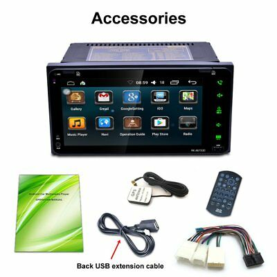 """7"""" 2 Core Autoradio Bluetooth For Android Car Stereo DVD Player Navigazione Wifi"""