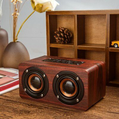 10W Doppio Altoparlante Bluetooth Speaker Usb Stereo Cassa Mp3 Player Di Legno N