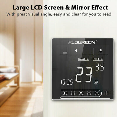 Programmable Digital Thermostat Heating LCD Touch Screen Temperature Controller