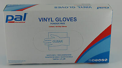 100 x Vinyl Medium Powder Free Disposable Gloves Catering Janitorial Cleaning